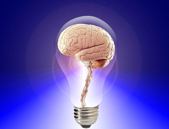 Titelbild Gehirn in Glühbirne - Das Ajna und das Denken im Nicht-Selbst